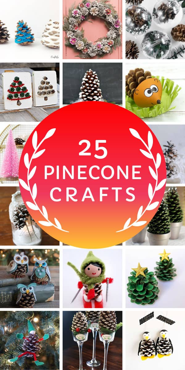 Loving these Christmas pinecone crafts ideas to DIY for frugal decor! #christmas #christmasdiy
