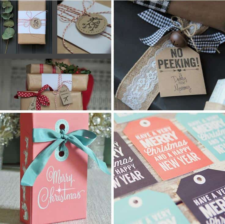 Loving these free Christmas printables - you can't buy gift tags this good in the store!
