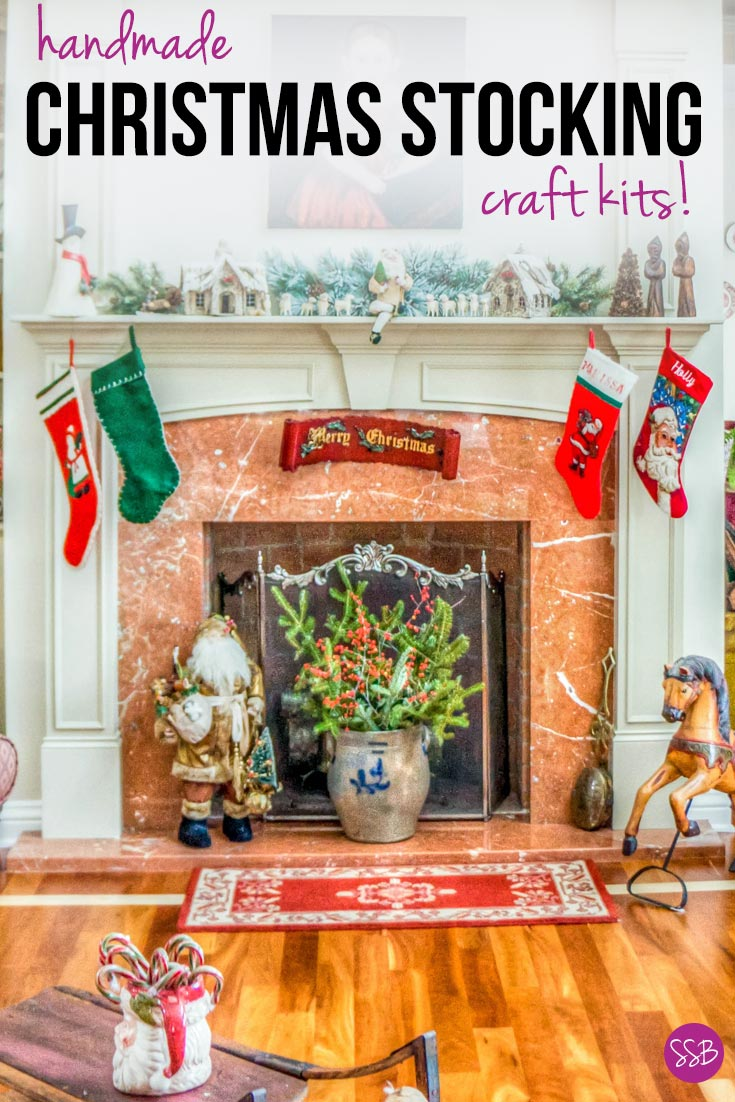 Christmas Stocking Craft Kits: Whether you're looking for felt applique, needlepoint or knitting sets we've picked out some gorgeous stocking kits for you!