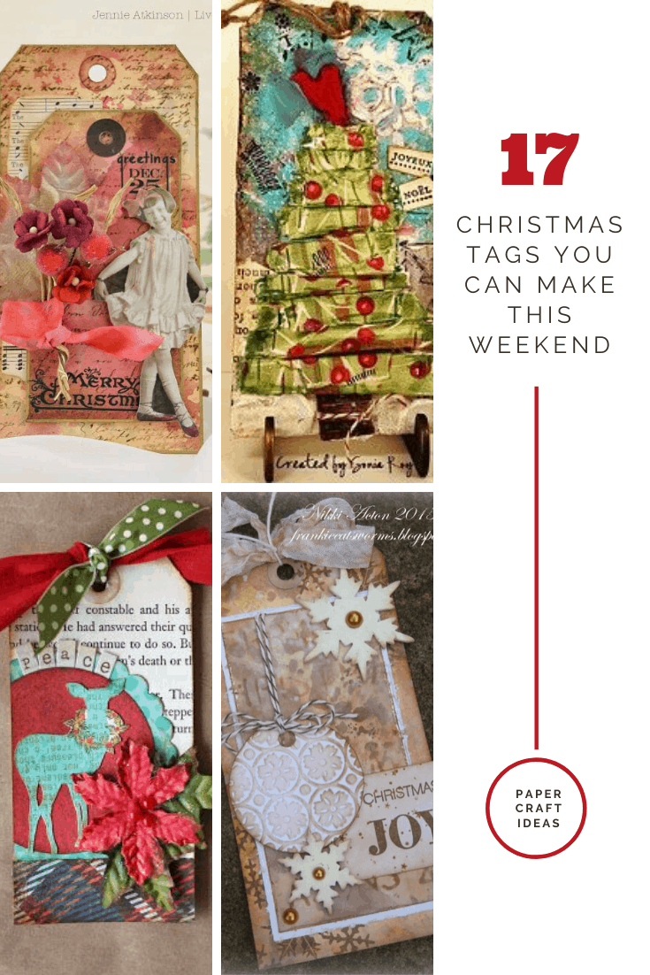 So many great ideas for making Christmas gift tags - I'm going to use some in my junk journal and some of gifts for family and friends!