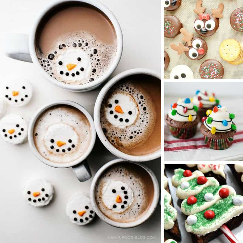 OMG how totally cute are these Christmas treats! The kids will go crazy over that snowman hot chocolate!
