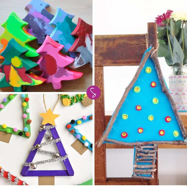 LOVE these Christmas Tree crafts for kids - so EASY and FUN!