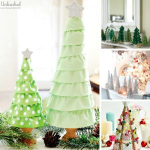 These DIY Christmas tree crafts are stunning! Can't wait to make them and festive up my mantel!