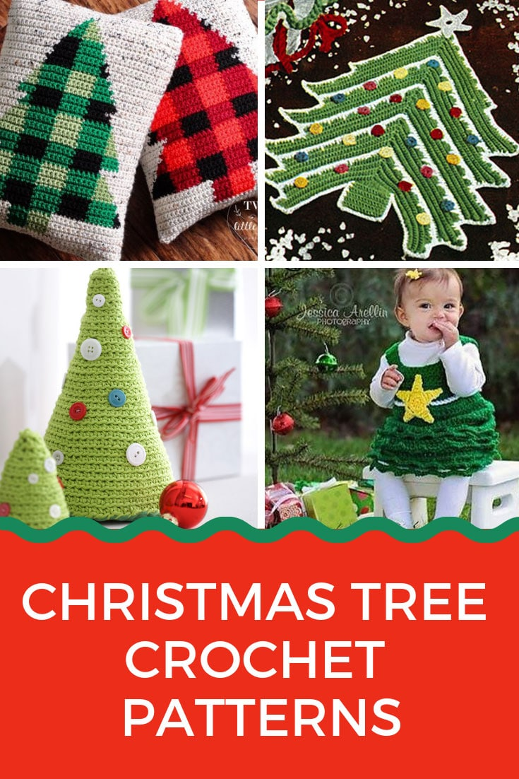 Don't miss these Christmas tree crochet patterns to get you in the Holiday spirit!