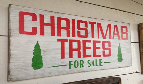 Christmas Trees for Sale Fixer Upper Farmhouse Sign