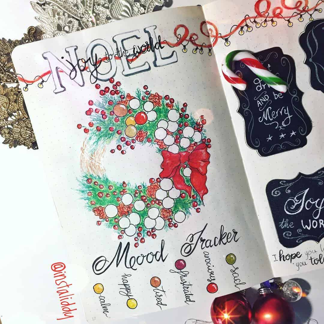 Christmas Wreath Mood Tracker