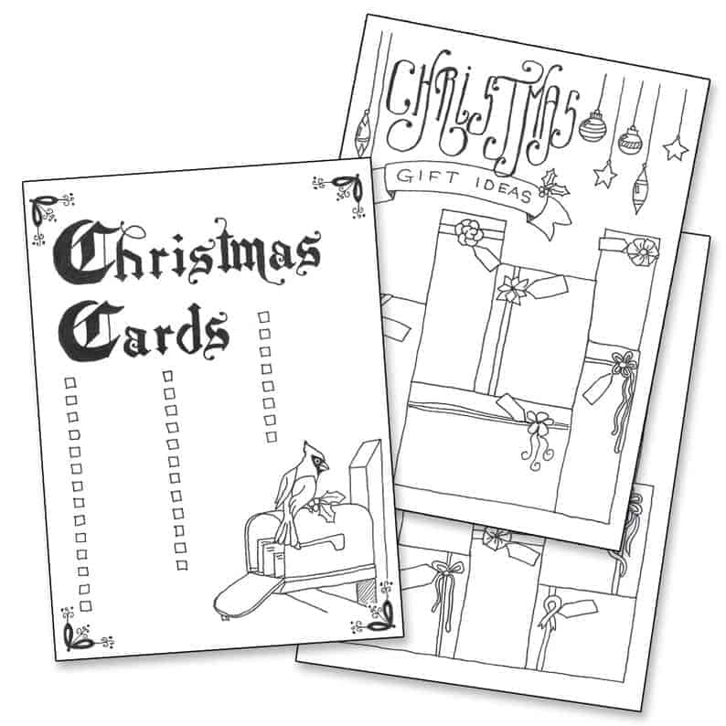 Christmas Card and Gift Ideas Trackers