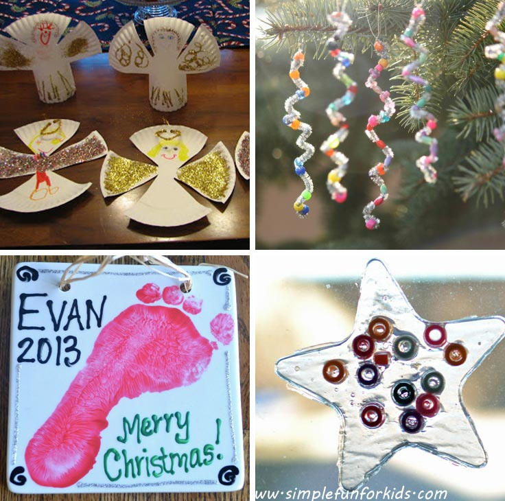 12 Super Easy Christmas Ornaments Toddlers Can Make (With a Little ...