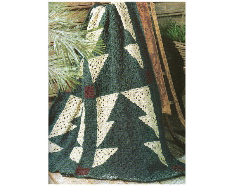 Pine Tree Afghan Crochet Pattern
