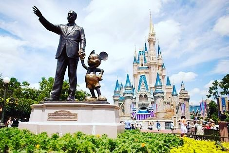 Cinderella Castle and Walt