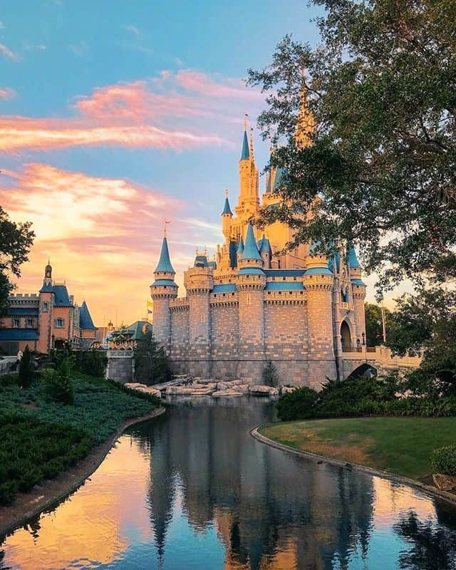 Cinderella Castle at sunset