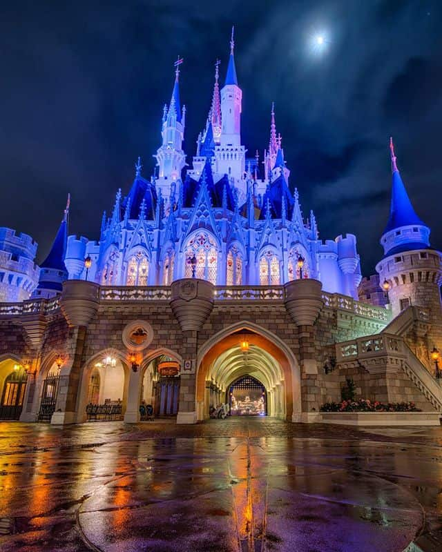 Cinderella Castle in the Rain