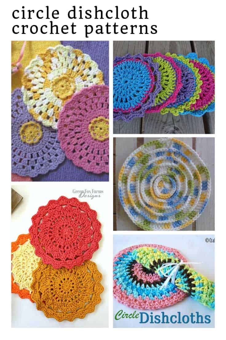So many fabulous circle dishcloth crochet patterns to make this weekend!