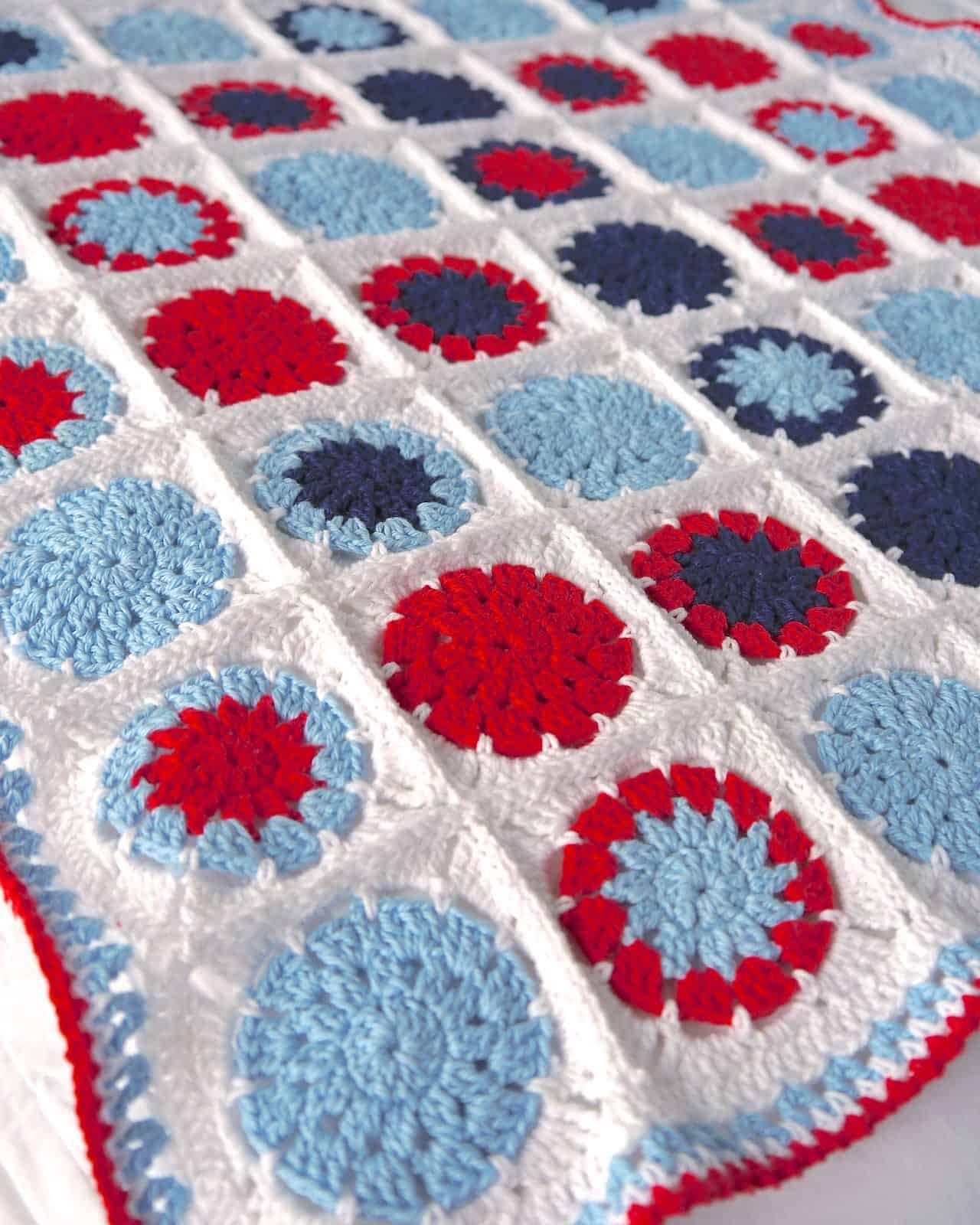 Circle in a Square Baby Blanket