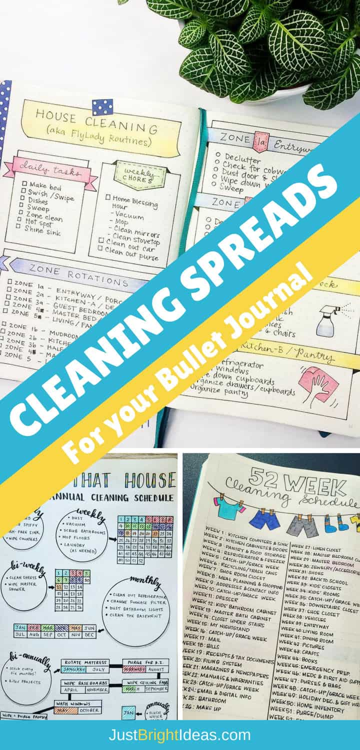 Cleaning Spreads for your Bullet Journal - Pinterest