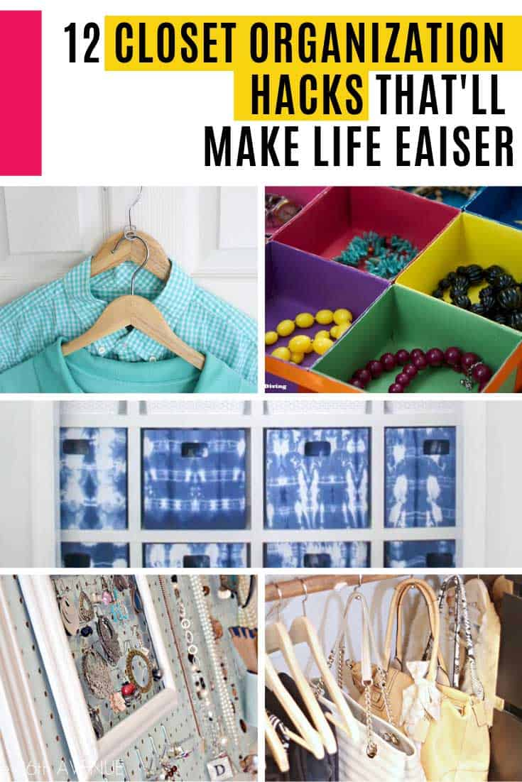 These closet organization hacks are genius! There's clever storage solutions for everything from clothes and shoes to purses and even jewellery, so whatever it is you want to wear you'll know exactly where to find it!