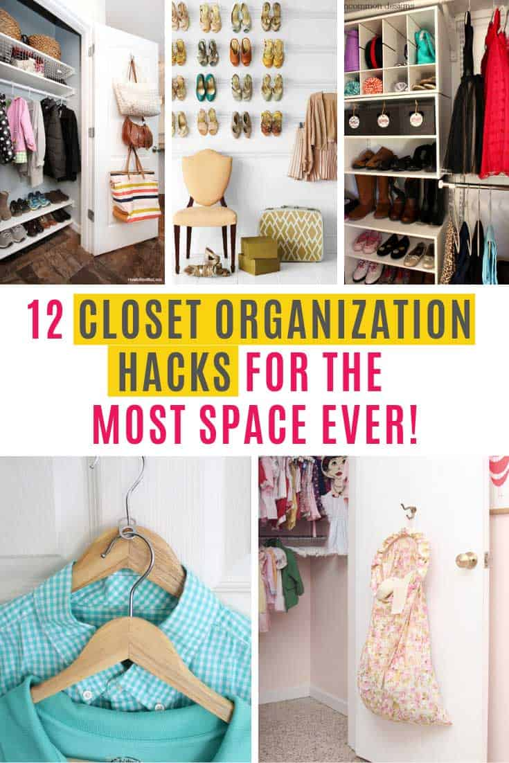 With these closet organization hacks you'll never lose have to search for your shoes or scarves again