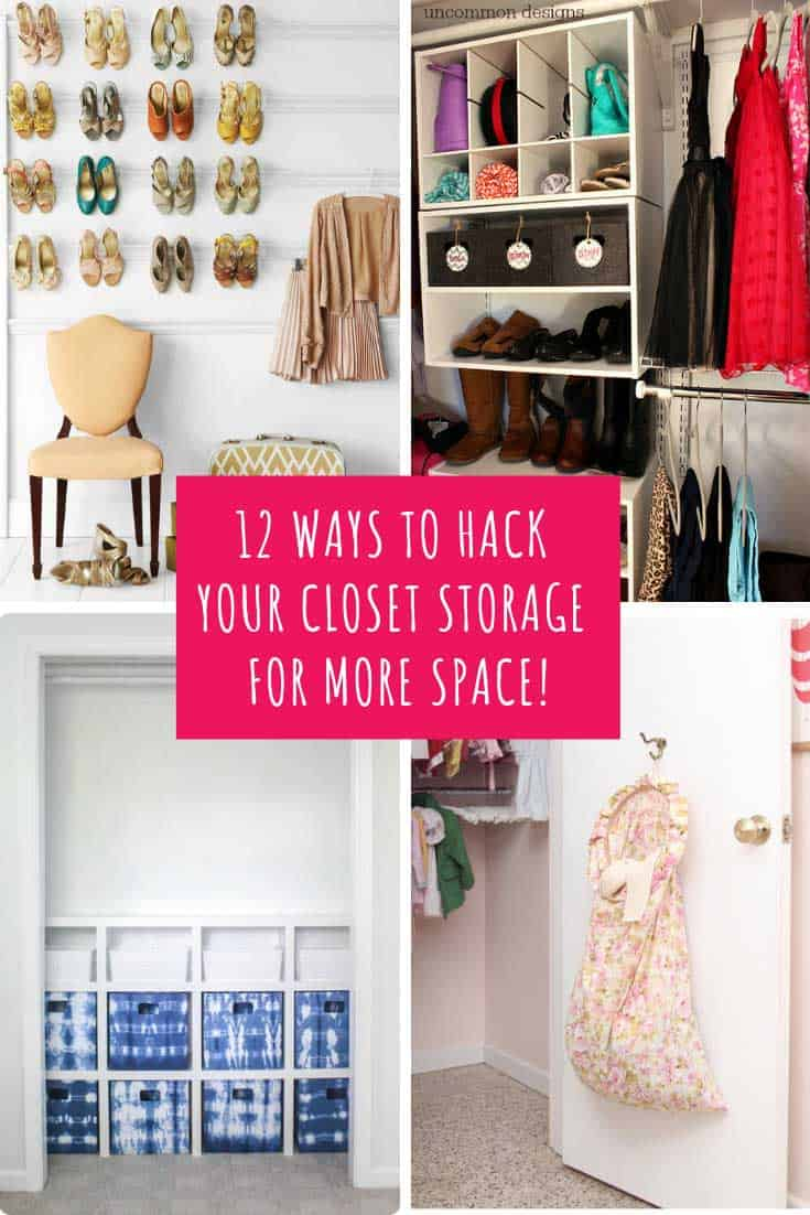 These closet storage hacks are genius! There's clever storage solutions for everything from clothes and shoes to purses and even jewellery, so whatever it is you want to wear you'll know exactly where to find it!