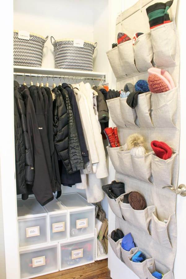 Use the door to store your winter woolies