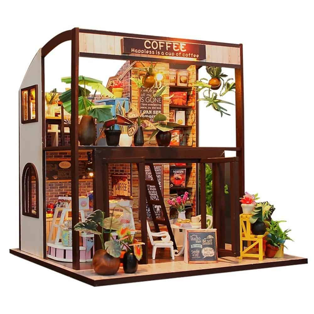 Coffee Shop Miniature Dollhouse Kit