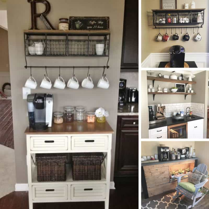 Home Coffee Bar Design Ideas: 13 Home Coffee Station Ideas To Help You Wake Up In The