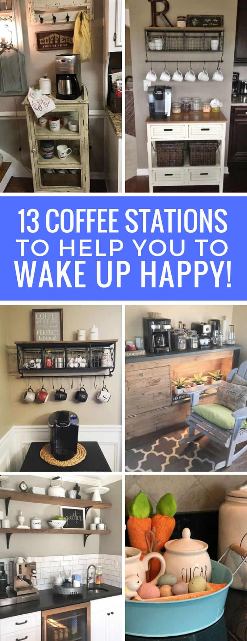 Totally in love with these home coffee station ideas! I need one of these in my life!