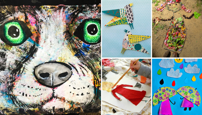 Collage Art Ideas for Kids to Make At Home