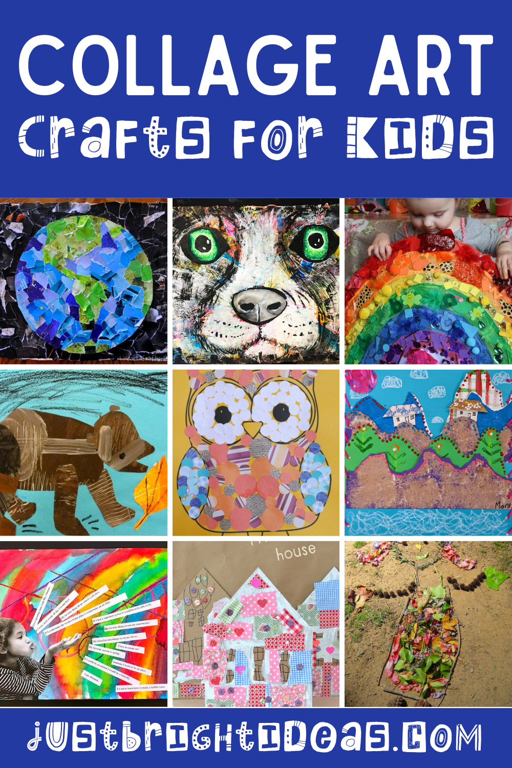 So many wonderful collage art ideas for kids of ages to enjoy at home!