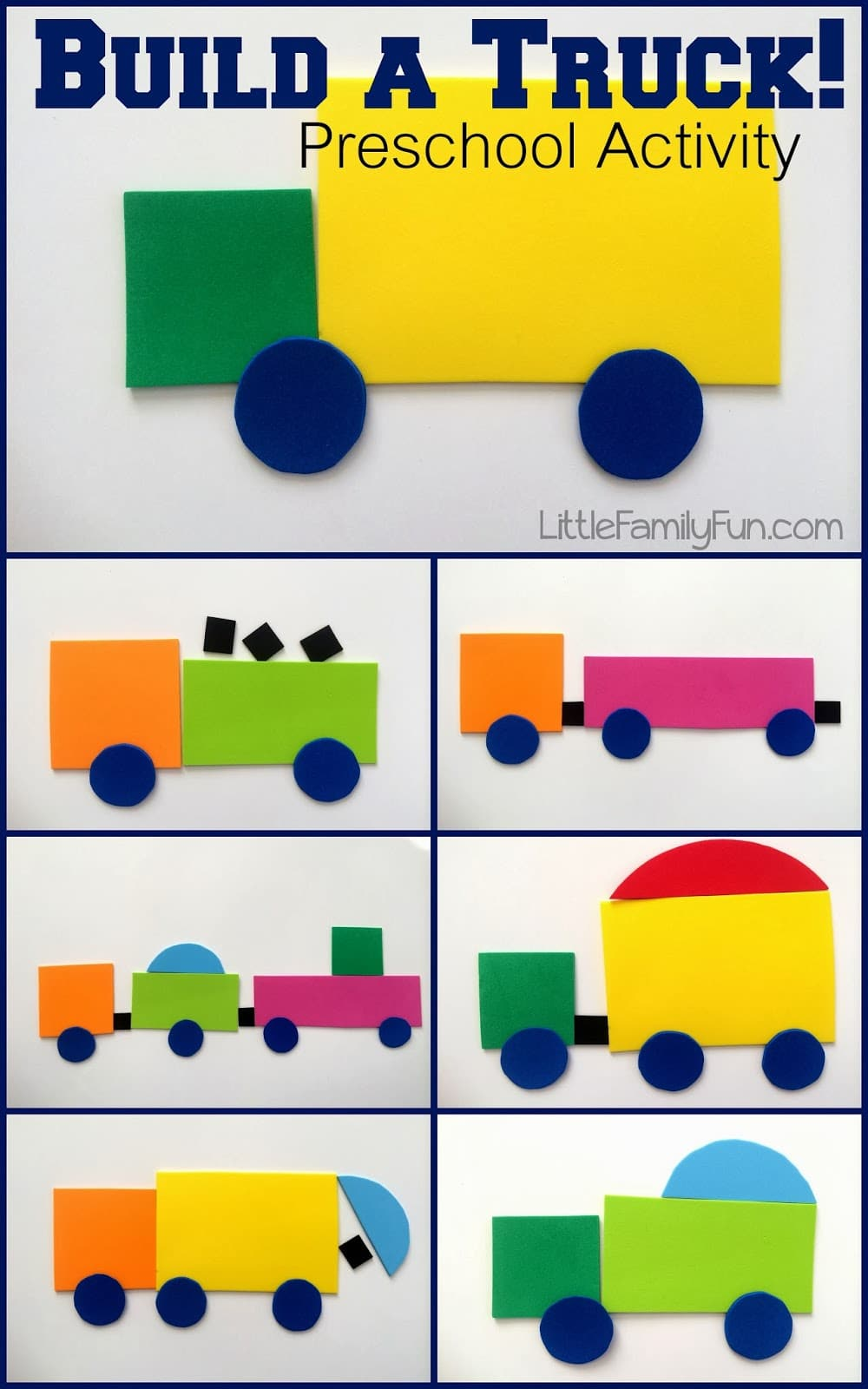Build a Truck Shape Activity