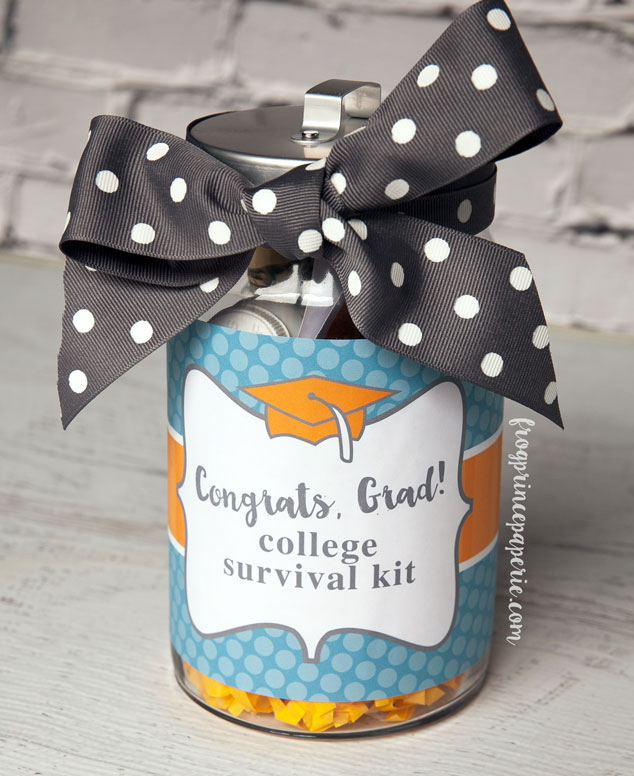 college survival kit diy graduation gift