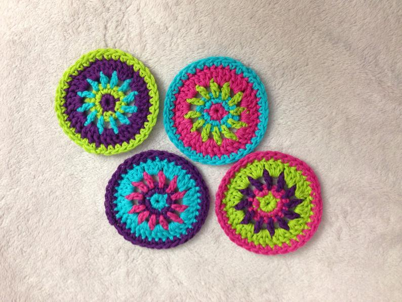Colorful Circle Coaster Crochet Pattern