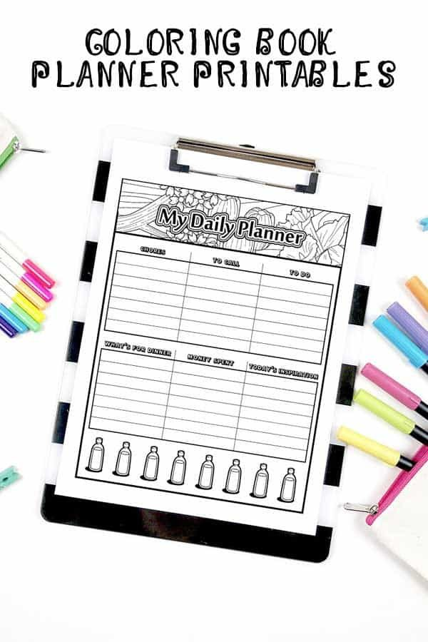Stay on track this May with this printable daily planner that is part of our coloring planner set. It's free to download!