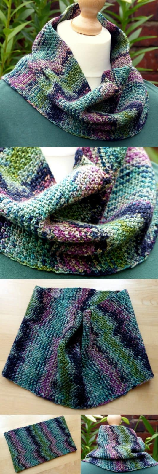 Colour Pool Cowl Crochet Pattern