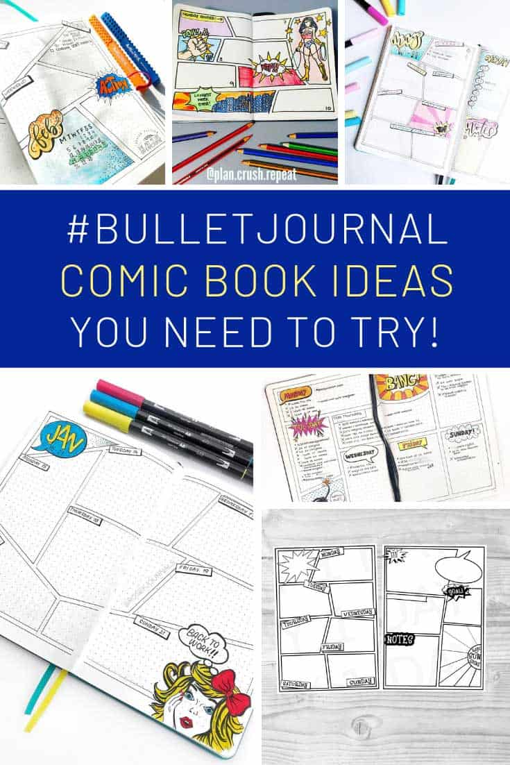 These comic book bullet journal weeklies are brilliant!