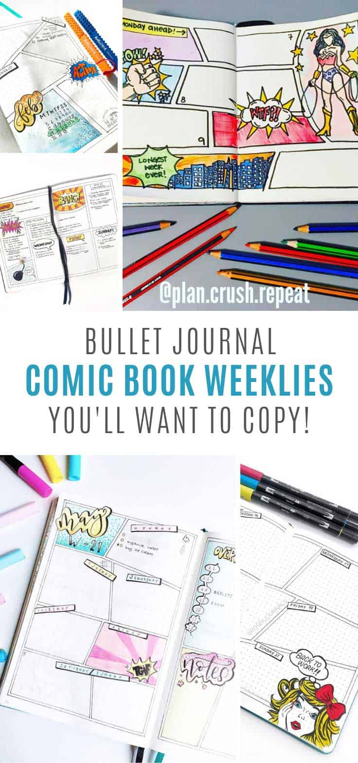 You need to try these comic book bullet journal weekly spread ideas!