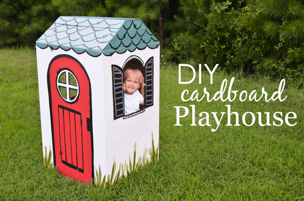 Coolest Cardboard Playhouse on the Block