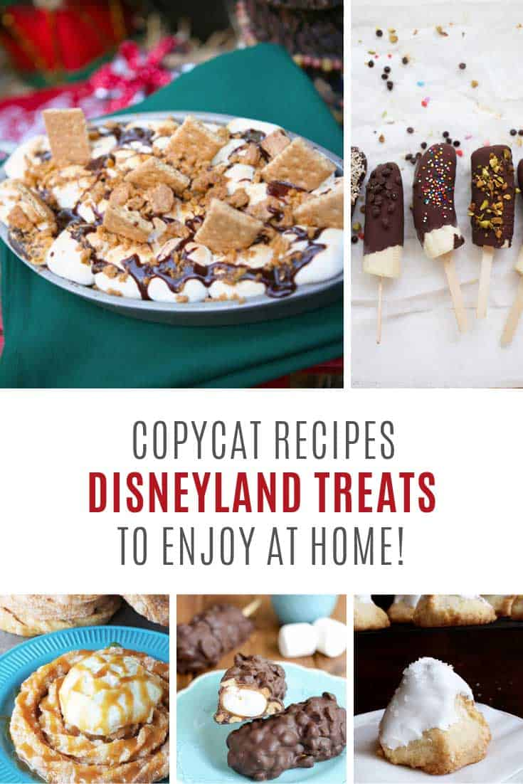 So many yummy copycat Disneyland recipes to try at home!