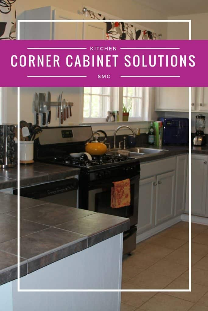 THIS is what I needed! Corner cabinet organizers so I don't need to stick my head in the cupboard to grab what I need!