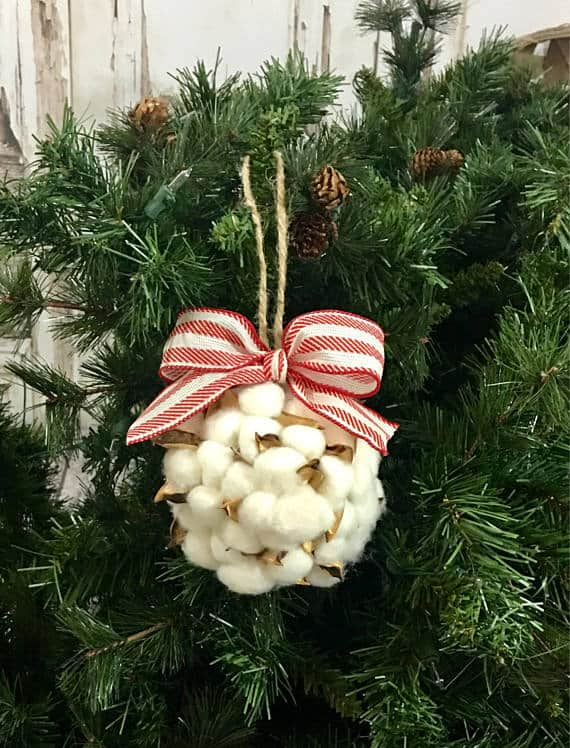 Cotton Christmas Ornament Farmhouse