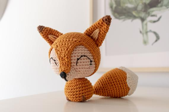 Cotton Tail the Chibi Fox Crochet pattern