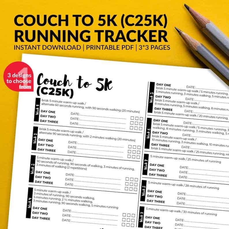 Couch to 5K Printable