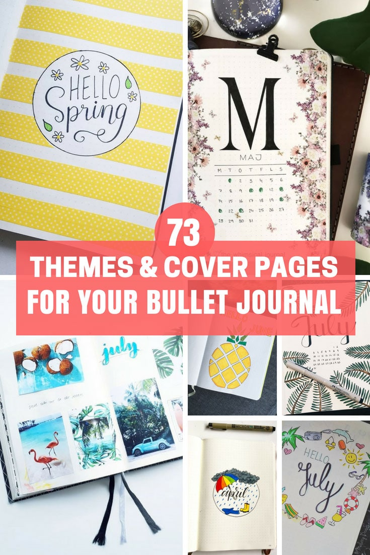 Cover Pages and Bullet Journal Themes for the Year