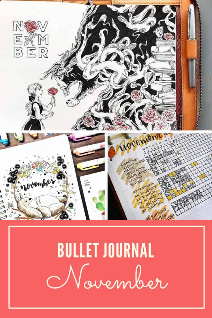 Cover page ideas for November Bullet Journal