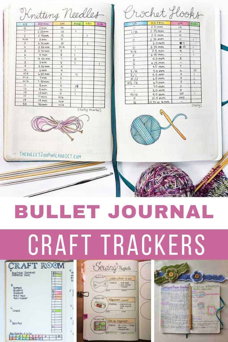 Loving these bullet journal craft trackers for remembering where I am in which project!