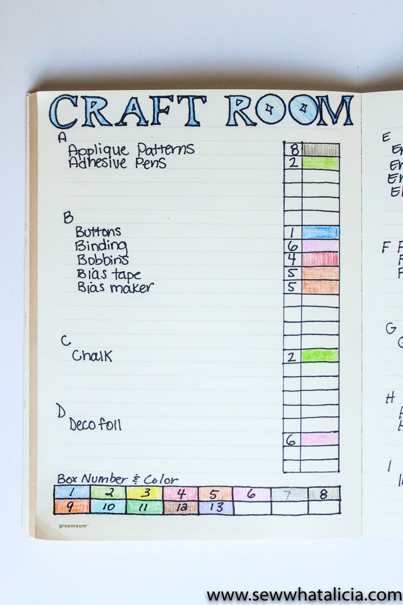 Keep track of what's in your craft stash