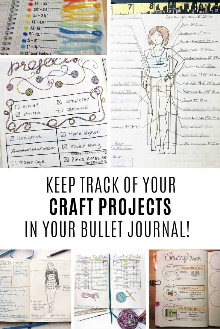 You need one of these craft trackers in your bullet journal!