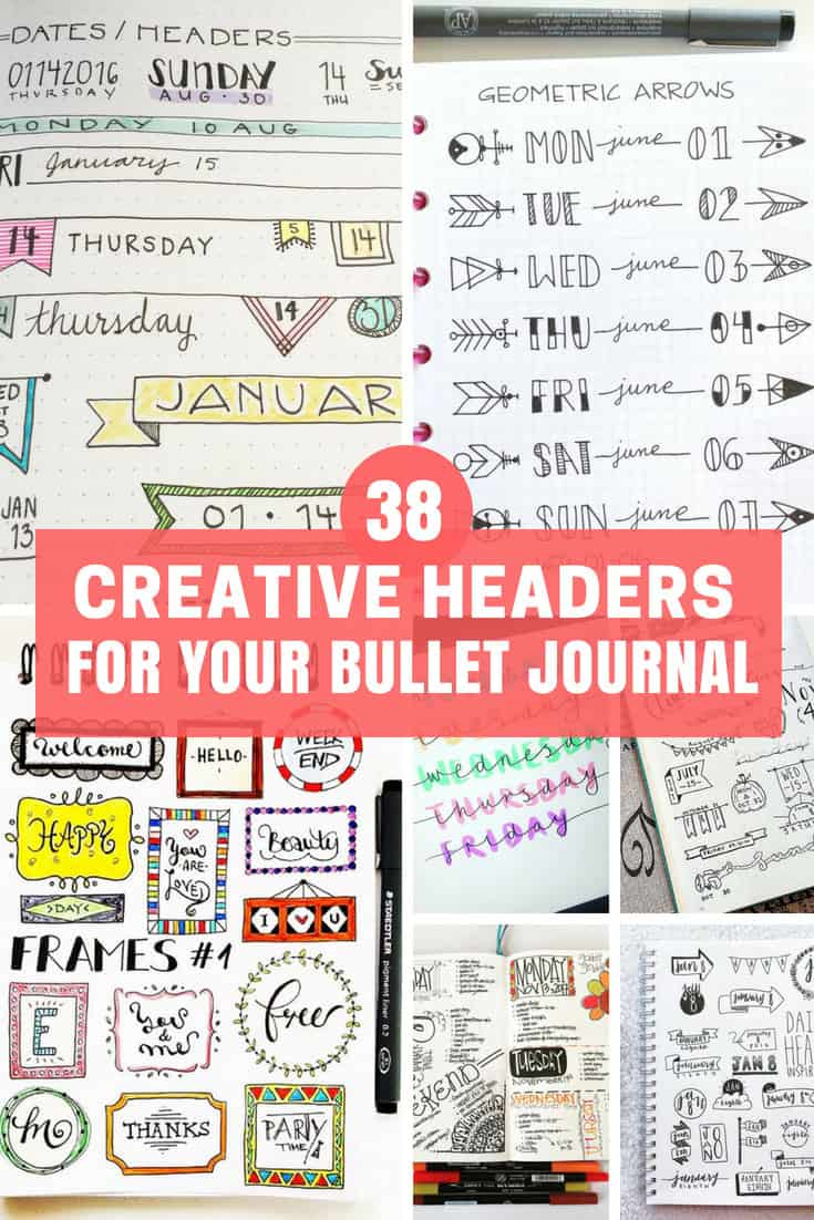 Creative Headers for Your Bullet Journal