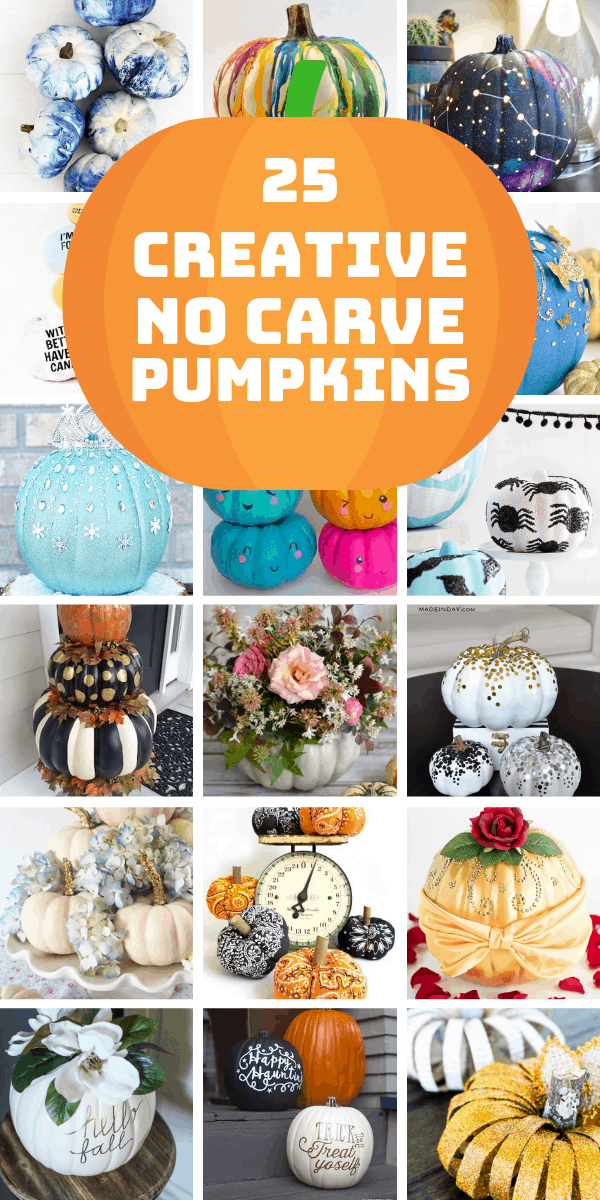 Oh my! Loving these creative no carve pumpkin decorating ideas!