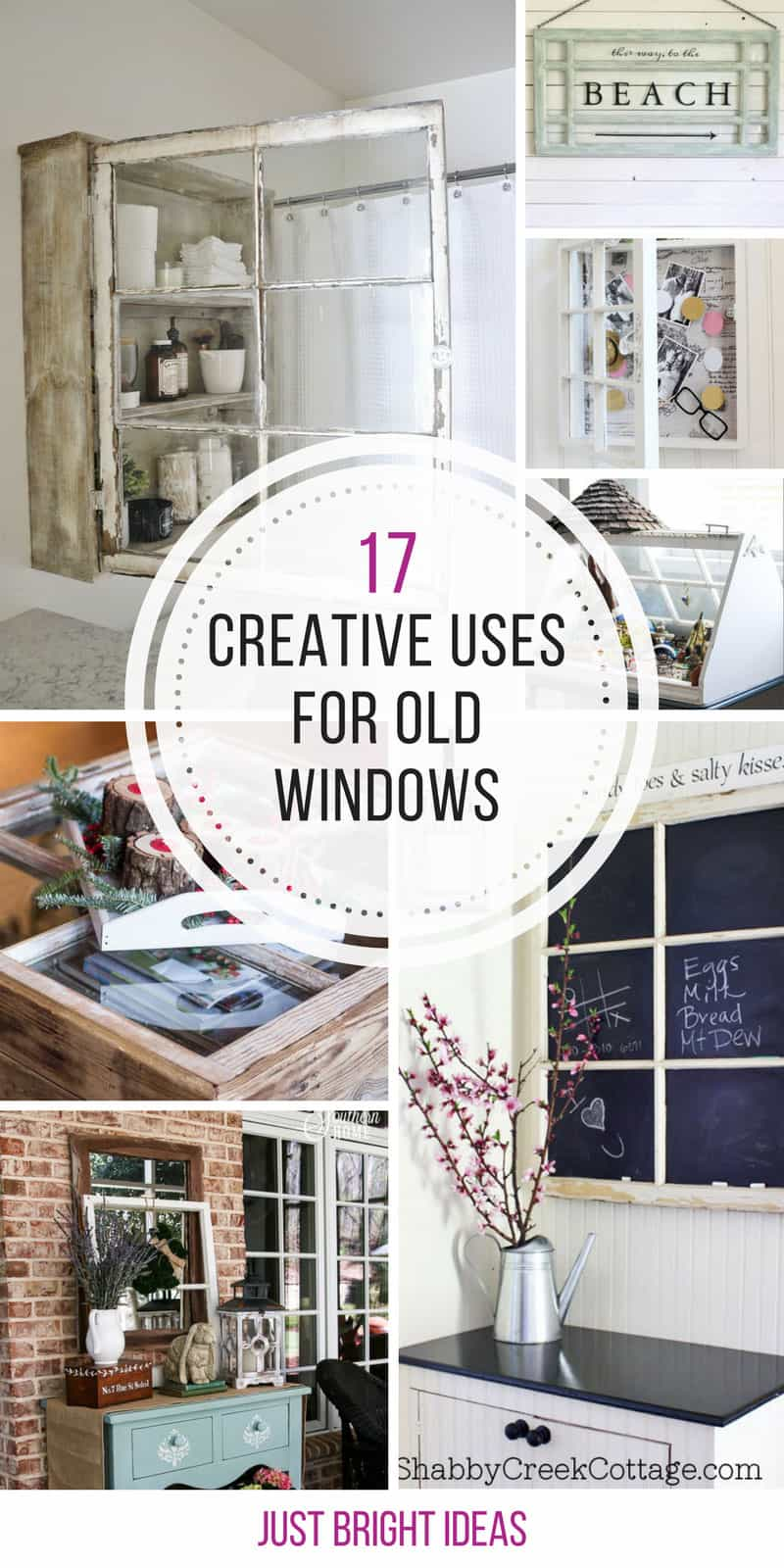 These creative uses for old windows are brilliant! Thanks for sharing!
