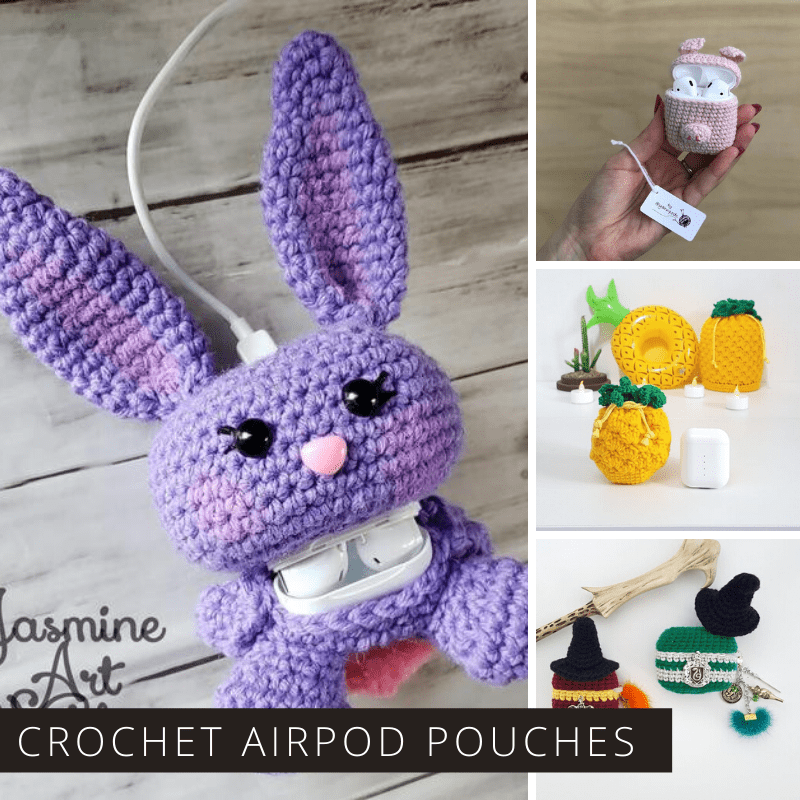 How adorable are these crochet airpod pouches! The perfect gift for someone who needs to keep their pods safe and sound!
